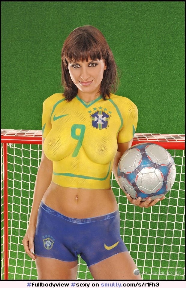 Brazil fan sexy soccer