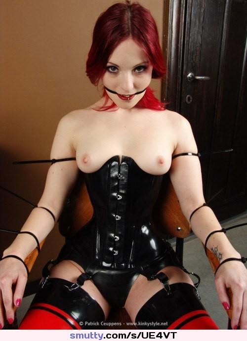 Sexy redhead latex girls